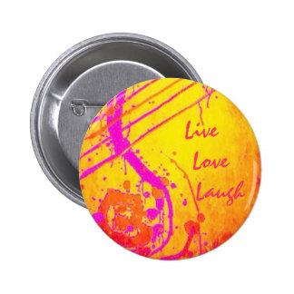 Geistiges inspirational - Live, Liebe, Lachen Runder Button 5,7 Cm
