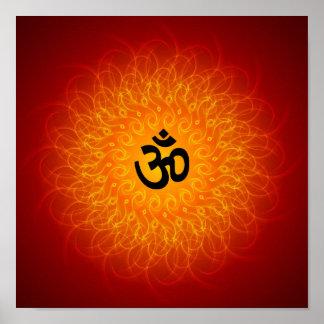 Geistiges OM auf Mandala-Plakat