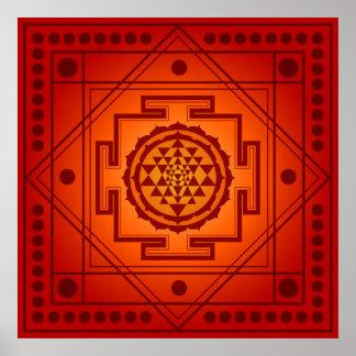 Geistiges Sri Yantra Poster