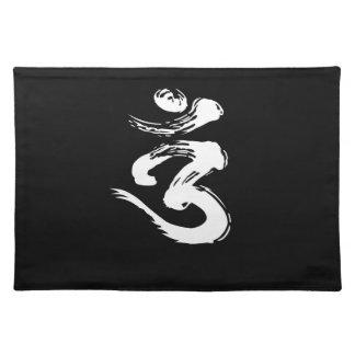 Geistiges Symbol OMs - Yoga-Produkte Stofftischset