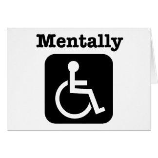 Geistlich - mit Behinderung. Karte