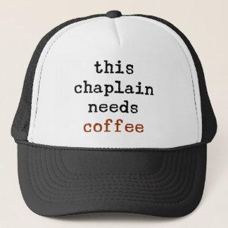 Geistliches benötigt Kaffee Truckerkappe
