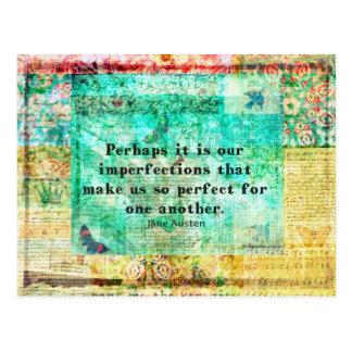 Geistreiches Jane Austen-Zitat Postkarte