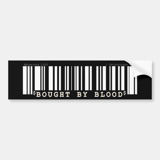 Gekauft durch Blut Christan Bar-Code-Autoaufkleber