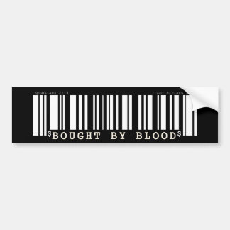 Gekauft durch Blut Christan Bar-Code-Autoaufkleber Autoaufkleber