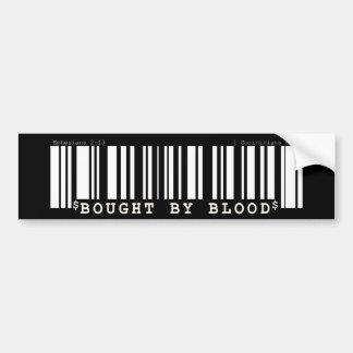 Gekauft durch Blut Christan Barcode-Stoßaufkleber Autoaufkleber
