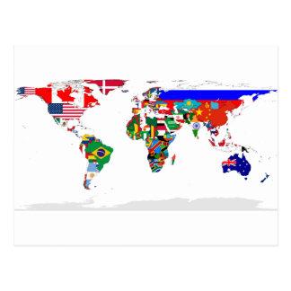 gekennzeichnete Welt Postkarte