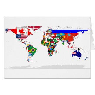 Gekennzeichnete Weltgrußkarte Karte