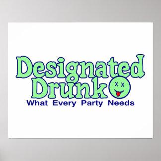 Gekennzeichnetes betrunkenes poster