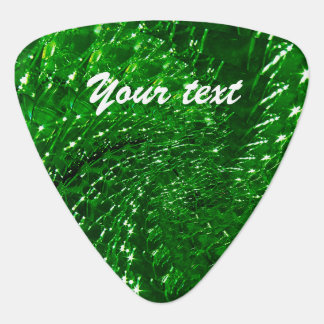 Geknisterter Glasstrudel-Entwurf - grüner Smaragd Pick
