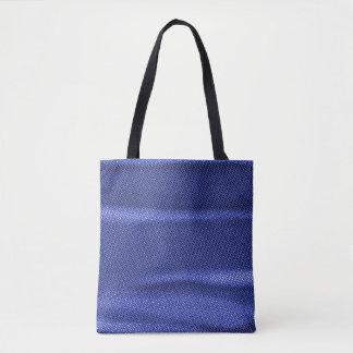 geknitterte Effektblautönung Tasche
