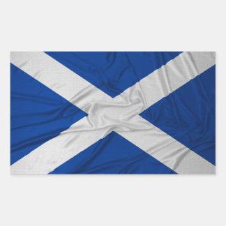 Geknitterte Schottland-Flagge Rechteckige Aufkleber