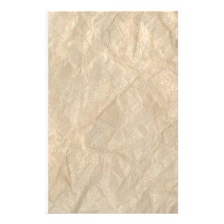 Geknittertes Windungs-Papier Briefpapier