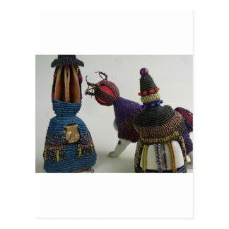 Geknotete Porzellan-Skulpturen Postkarte