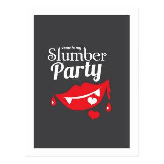 Gekommen zu meinem Schlummer-Partylächeln Postkarte