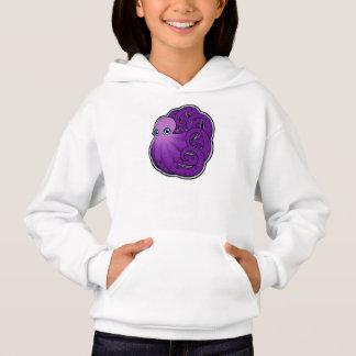 Gekräuselte lila gepunktete Kraken-Tinte, die Hoodie