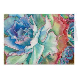Gekräuseltes Echeveria Aquarell durch DLB Karte