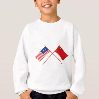Gekreuzte Malaysia- und Kedah-Flaggen Sweatshirt