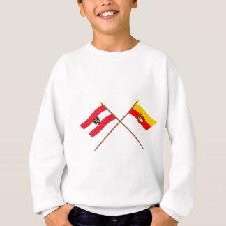 Gekreuzte Österreich- und Kärntenflaggen Sweatshirt
