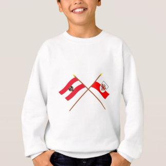 Gekreuzte Österreich- und Tirol-Flaggen Sweatshirt