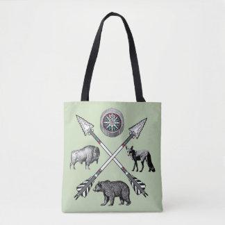 Gekreuzte Pfeile und wild lebende Tiere Tasche