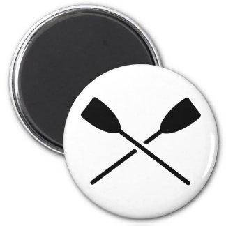 Gekreuzte Ruder Runder Magnet 5,1 Cm