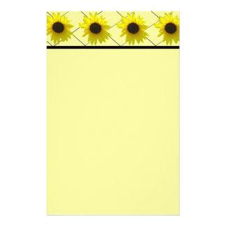 Gekreuzte Sonnenblume Briefpapier