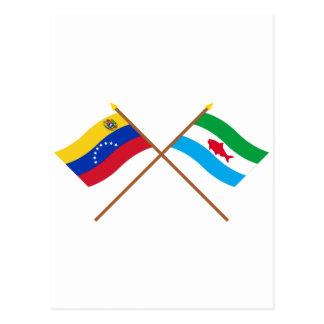 Gekreuzte Venezuela- und DependenciasFederales Postkarte