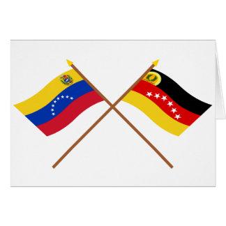 Gekreuzte Venezuela- und Mirandaflaggen Karte
