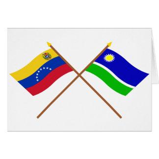 Gekreuzte Venezuela- und Portuguesaflaggen Karte