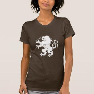 Gekreuzter Schwanz-zügelloser Löwe-Wappenkunde-T - T-Shirt
