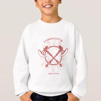 Gekreuztes Axt-Holzfäller-Grafik-T-Stück Sweatshirt