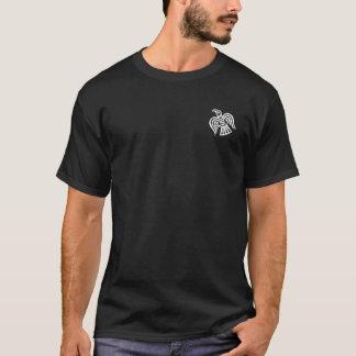 Gekreuztes Axt-Schwarzweiss-Shirt Wikingers T-Shirt