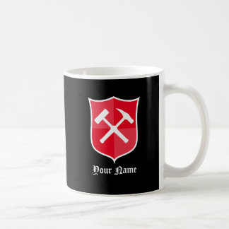 Gekreuztes Felsen-Hammer-Schild Tasse