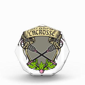 Gekreuztes Lacrosse-Stock-Wappen Auszeichnung