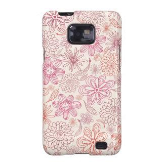 Gekritzel-Blumen Samsung rufen Hüllen an Galaxy SII Cover