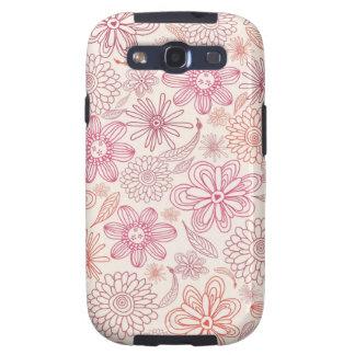 Gekritzel-Blumen Samsung rufen Hüllen an Etui Fürs Galaxy SIII