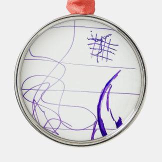 Gekritzel-Diagramm-Ideen und Freiheit Silbernes Ornament