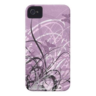 Gekritzel-Kunst-Mode-BlackBerry-MUTIGER Kasten iPhone 4 Cover