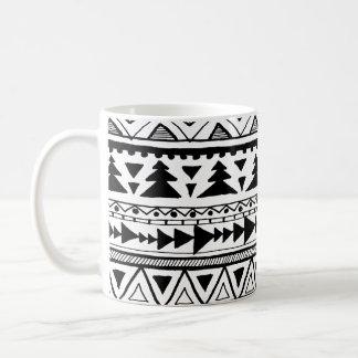 Gekritzel-Muster-Tasse Stammes- aztekischer boho Kaffeetasse
