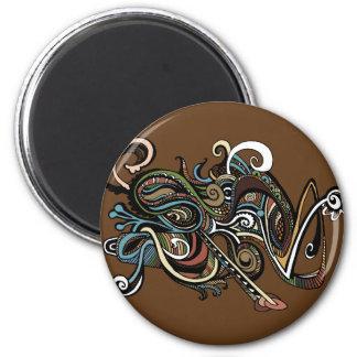 Gekritzel Runder Magnet 5,7 Cm