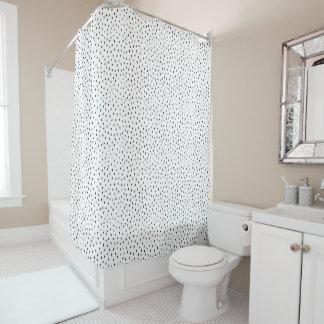 Gekritzel-Stellen-Duschvorhang Duschvorhang
