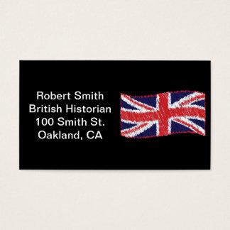 Gekritzelte Gewerkschafts-Flagge Visitenkarte