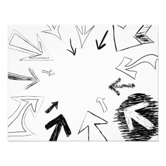 Gekritzelte Pfeil-Illustration Individuelle Ankündigung