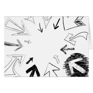 Gekritzelte Pfeil-Illustration Grußkarte