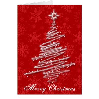 Gekritzelter Weihnachtsbaum Karte