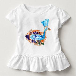 Gekrönte Taube gezeichnet von einem Mädchen mit Kleinkind T-shirt
