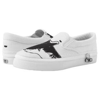 Gekrönte Taube macht Beleg auf Schuhen Slip-On Sneaker