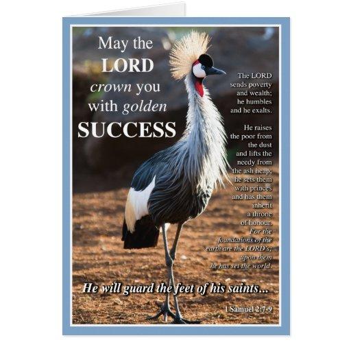 Gekrönter Kran-Erfolg Karten