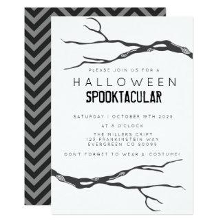 Gekrümmte Niederlassung Halloweed Spooktacular Karte